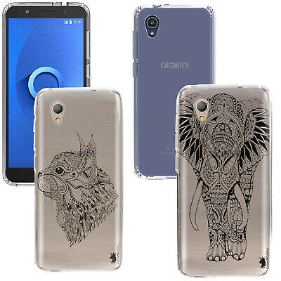 For Alcatel 1 5033X  NEW Animal Gel Case Cover Gelly Silicone Rubber Back+Stylus