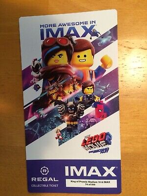 THE LEGO MOVIE 2 The Second Part Regal Collectible IMAX Ticket Free Poster