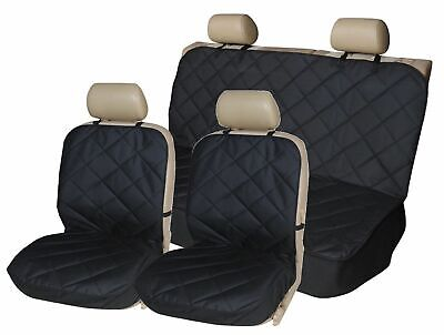 Quilted Car Dog Pet Seat Covers Full Set For BMW E34 (5 Series) 1988-1997