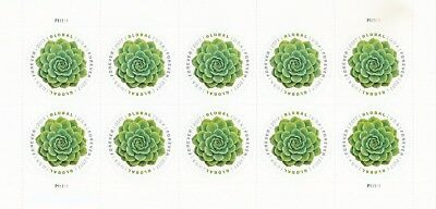 Scott# 5198 GLOBAL FOREVER GREEN SUCCULENT 2017 MNH SHEET of 10 FOREVER STAMPS