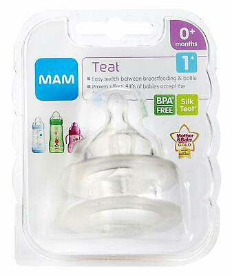 MAM Slow Flow Teats 2-pack 0+ months Baby Bottle BPA free Size 1 Fast Delivery