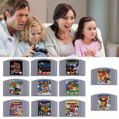 Smash Bros Super Mario Video Game Cartridge Console US Card For Nintendo 64 N64