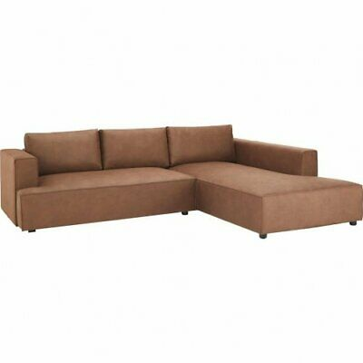 Couch Mit Bettfunktion L Form Momax Eck Sofa Braun Microfaser Schlafcouch Bett