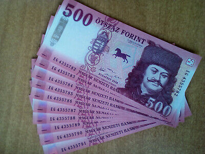 Brand new 2018 2019 UNC 500 ft paper money banknote Hungary forint uncirculated
