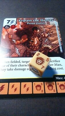 Dice Masters Amazing Spider-Man - #124 Kraven the Hunter - RARE