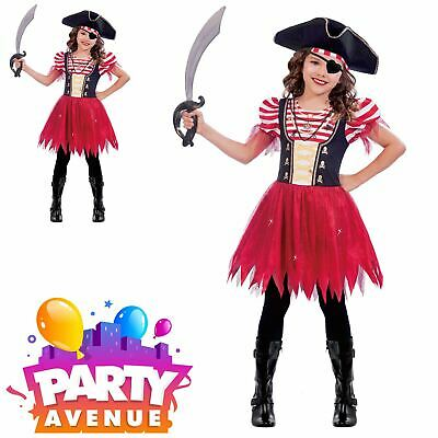 Girls High Seas Pirate Childrens Fancy Dress Book Day Costume