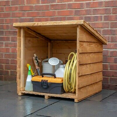 Wooden Garden Midi Log Boot Timber Outdoor Cube Store 2x2 Removable Lid 2ft 2ft