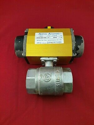"Pneumatic Actuated  Ball Valve 2"" BSP Brass"
