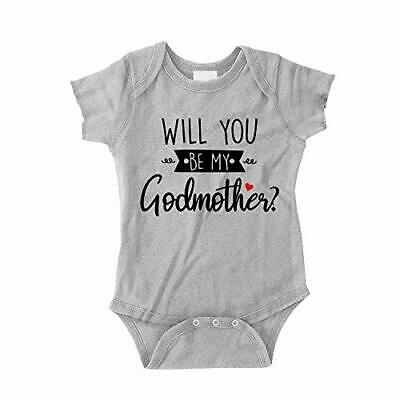 Will You Be My Godmother Baby Bodysuit One Piece or Toddler T-Shirt for Baptism