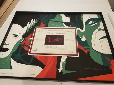 Universal monsters by Tom Whalen - Complete set - Rare Sold out not Mondo print
