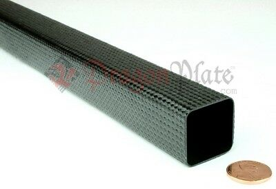 "Dragonplate 1"" x 96"" Carbon Fiber Square Tube with Natural Finish- FDPBT-S*1x96"