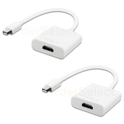 2X Thunderbolt Mini Display Port DP To HDMI adapter female to male