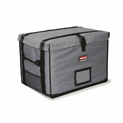 Rubbermaid ProServe Cool Grey Nylon Top Load Full Pan Insulated Food Delivery