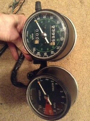 Honda CB200 CB 200 Speedo Clocks  Showing 23965 Miles