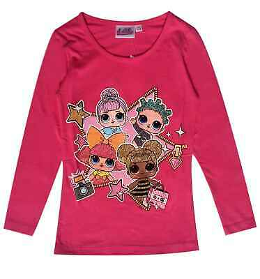 LOL Surprise Dolls Printed Official Kids Girls T Shirt Cotton Clothes Tops 6-12Y