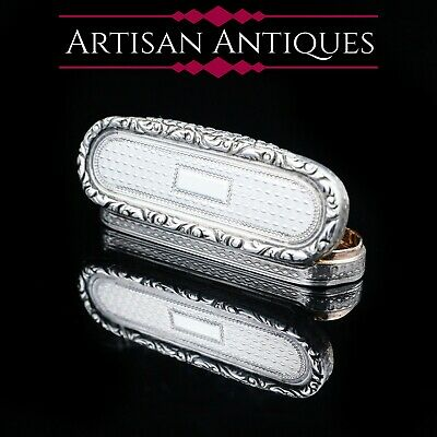 Antique Georgian Solid Silver Toothpick / Snuff Box - 1826