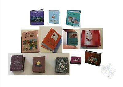 Set of 12 Hand Made Miniature Book - Dolls House Miniature - 12th Scale