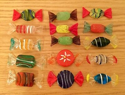 15pcs Vintage Murano Glass Sweets Wedding Xmas Party Candy Decorations Gift