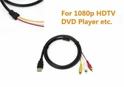 HDMI Male to 3 RCA AV Video Audio Adapter Cable For 1080p HDTV DVD Player 1.5M