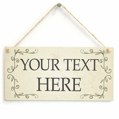 Personalised Your Text Here Sign - Add Your Words Customised Wording Room Plaque