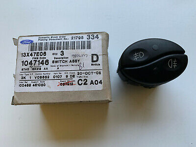 New Genuine Ford Escort Mk6 Front & Rear Fog Light Fog Lamp Switch Nos