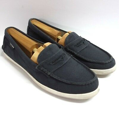 5c04dc6eb1c Cole Haan Grand OS Pinch Weekender Penny Loafer Shoes Womens 10.5 B Black  Canvas
