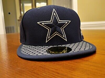 0e856d755cf Dallas Cowboys New Era 59FIFTY NFL On Field Fitted Cap 5950 Hat Size 7 5
