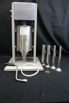 """New Excalibur Dehydrator 21"""" Stainless Steel Vertical Sausage Stuffer MINT (3)"""