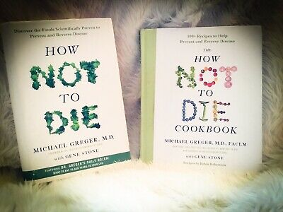 "How Not To Die Cookbook And Book Lot Of Two Michael"" Gregor M.D Vegan Plantbased"