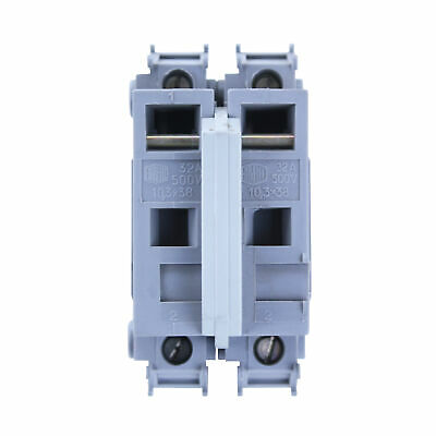 Entrelec 22.0P Terminal Block Fuse Holder, Din Rail Mounted