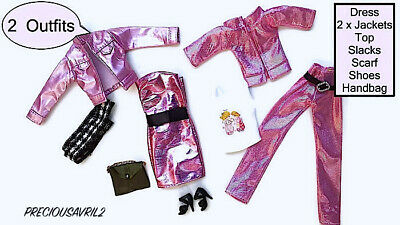 Brand new barbie doll clothes outfit clothing sets set of 2 Outfits jacket dress