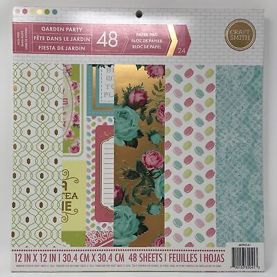"""CRAFT SMITH /'CHRISTMASVILLE/' Paper Pad 12/""""x12/"""" 24 Designs 48 Sheets MPP0006"""
