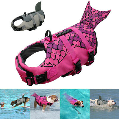 Dog Pet Life Vest Jacket Pet Preserver Safety Aquatic Swim Float Vest Dog Saver