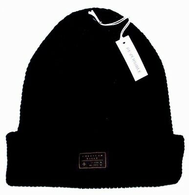 c50bb528155 Mens American Eagle Outfitters Reversible Black Beanie Hat One Size