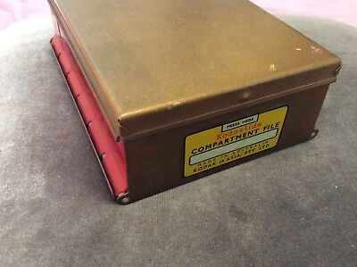 Vintage Kodaslide Compartment File - Kodak Australia - Gold & Red