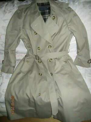 c30357aaf69 Burberrys England Women s Belted Double Breasted Trench Coat Lined size 50  Reg.