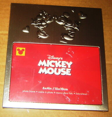 """Mickey Minnie Mouse Kissing Photo Frames Disney New In Plastic 4"""" X 6"""" Inch 2000"""