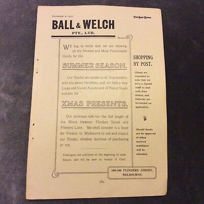 Antique Advertisement - Ball & Welch - Melbourne - 1907
