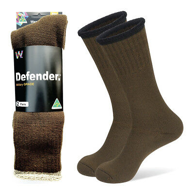 2 Pack Work Hiking Boot Socks Thick & Durable 100% Australian Made Army