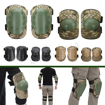 4X Elbow Knee Pads Protective Combat Tactical Military Pads Protector Outdoor