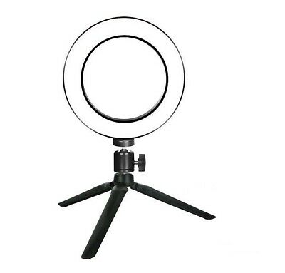"6"" Dimmable LED Ring Fill Light Stand 5500K Lighting Kit for Makeup Phone Camera"