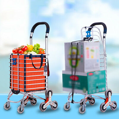 New Portable Shopping Cart Bag Luggage 8 Wheels Trolley Stair Climb Foldable SFW