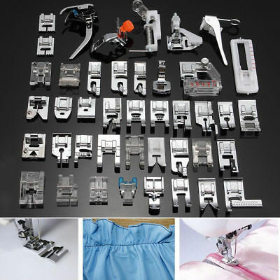 42 PCS Domestic Sewing Machine Foot Presser Feet Kit For Brother Singer Janome