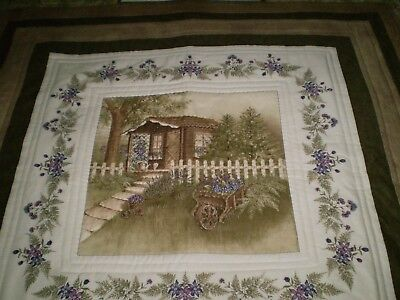 Handmade Patchwork Lap Quilt - Moda - The Potting Shed