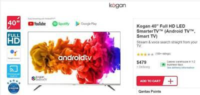 "Android TV 40"" Smart TV   3yr Extended Care BRAND NEW in Box"