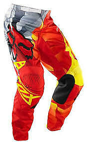 New Fox Racing 180 Race Red Yellow Grey Pants Motocross Off Road Youth Size 28