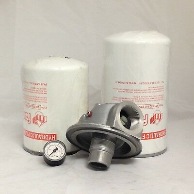 "Hydraulic Oil Spin on Return Filter & Housing 1-1/4"" BSPP Ports 300 Lt/Min 25 µ"