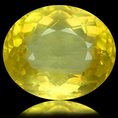 13.57 Ct Ct Ultra Rarest! Top-Luster 100%natural Canary Yellow Apatite Brazil.