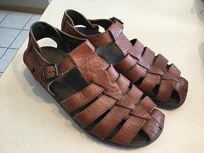 725228f9df1 ALLROUNDER BY MEPHISTO Men s Alligator Brown Leather Sandals Size 41 ...