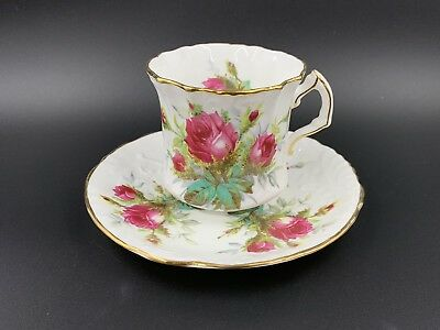 Hammersley Grandmother's Rose Tea Coffee Cup Saucer Set Bone China England